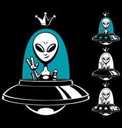alien king vector image vector image