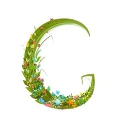 Alphabet letter G elegant flower blooming vector image