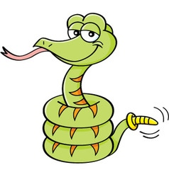 Cartoon rattle snake vector image