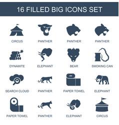 16 big icons vector