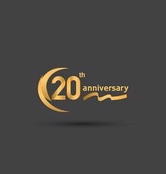 20 years anniversary logotype with double swoosh vector