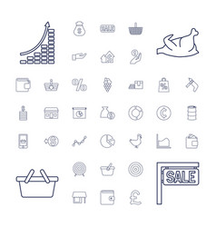 37 market icons vector