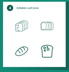 4 loaf icons vector