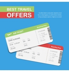 Advertising of the travel agency vector image