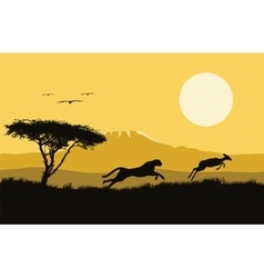 Africa wild life hunting vector