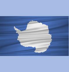 Antarctica flag flag blowig vector