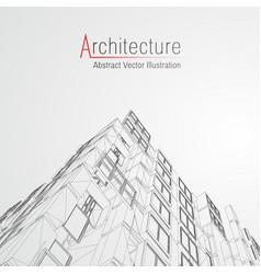 Architecture line background building vector