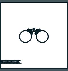 binoculars icon simple vector image