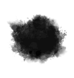 Black watercolor on white background vector