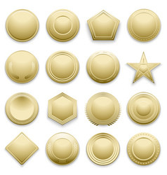 blank gold labels set vector image