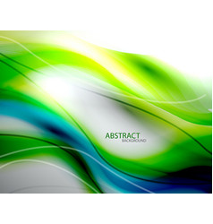 Blurred abstract blue green wave background vector image