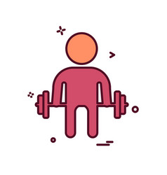 body builder icon design vector image