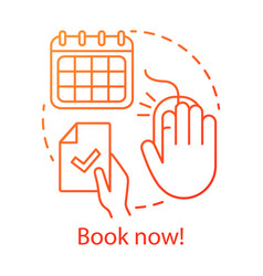 book now concept icon holiday resort interest vector image