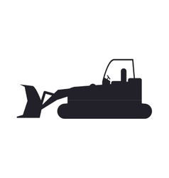 bulldozer truck construction sign vector image