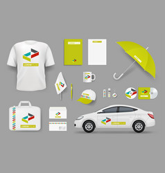 Business identity items corporate branding vector