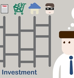 Businessman Plan your money for investment vector