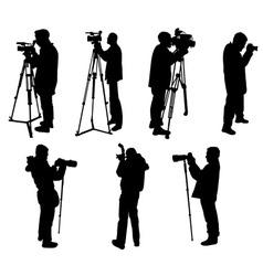 Cameraman and phographers vs vector