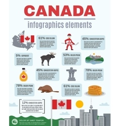 Canada Infographics Elements vector
