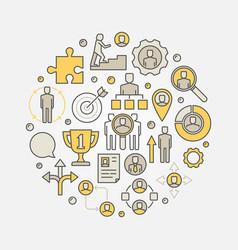 Career development circular vector