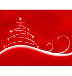 christmas background with firtree vector vector image