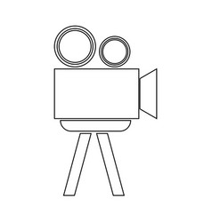 Cinematograph the black color icon vector
