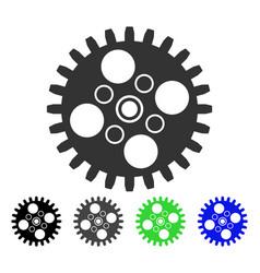 Cogwheel flat icon vector