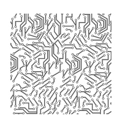 Computer chip circuit vector image