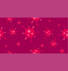 Corona virus or flu virus seamless background vector