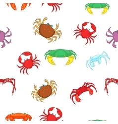 Crab pattern cartoon style vector