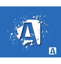Creative Graphic Alphabet A Design vector image