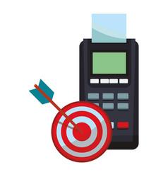 Credit card reader and target dartboard vector