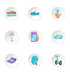 Device of future icons set cartoon style vector image