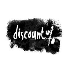 Discount percent hand written label vector