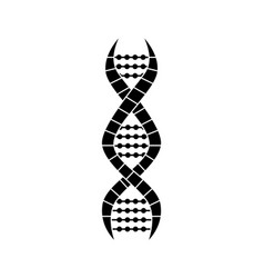 Dna molecule strand science icon black on white vector