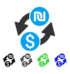 Dollar shekel exchange flat icon vector