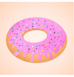 Doughnut is sweet food vector