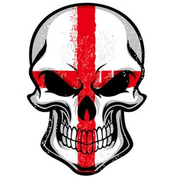 England flag in skull vector image