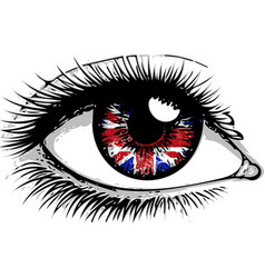 flag great britain in beautiful male or vector image