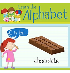 Flashcard alphabet C is for chocolate vector image