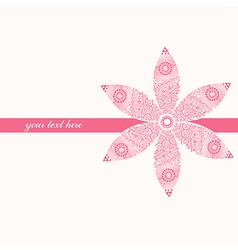Floral greeting card with place for your text and vector