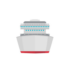 front view container ship icon in flat style vector image