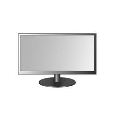 Frontal view of widescreen led or lcd monitor vector