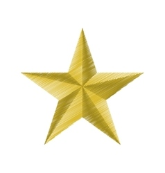 golden star insignia icon graphic vector image