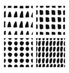 Hand drawn seamless patterns set vector