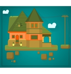 House flying in the sky vector