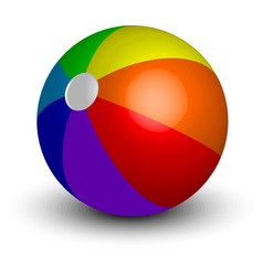 inflatable beach ball vector image
