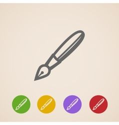 Ink pen icons vector