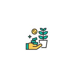 investment icon design startup icon design vector image