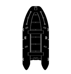 Isolated boat silhouette vector