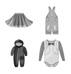 Isolated object cloth and apparel icon set of vector